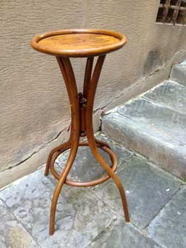 Small table, bench wood, Thonet