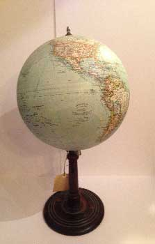 Jordglob globe, with black base