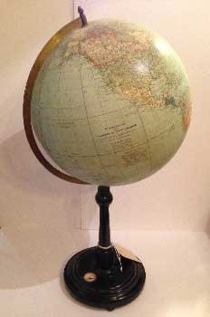 Svedish globe, with black base