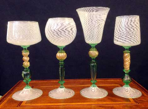 Murano glasses watermark green