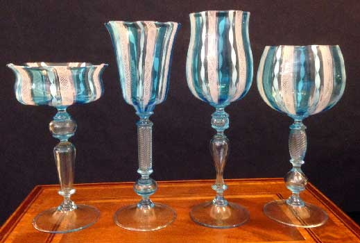 Murano glasses zanfirici