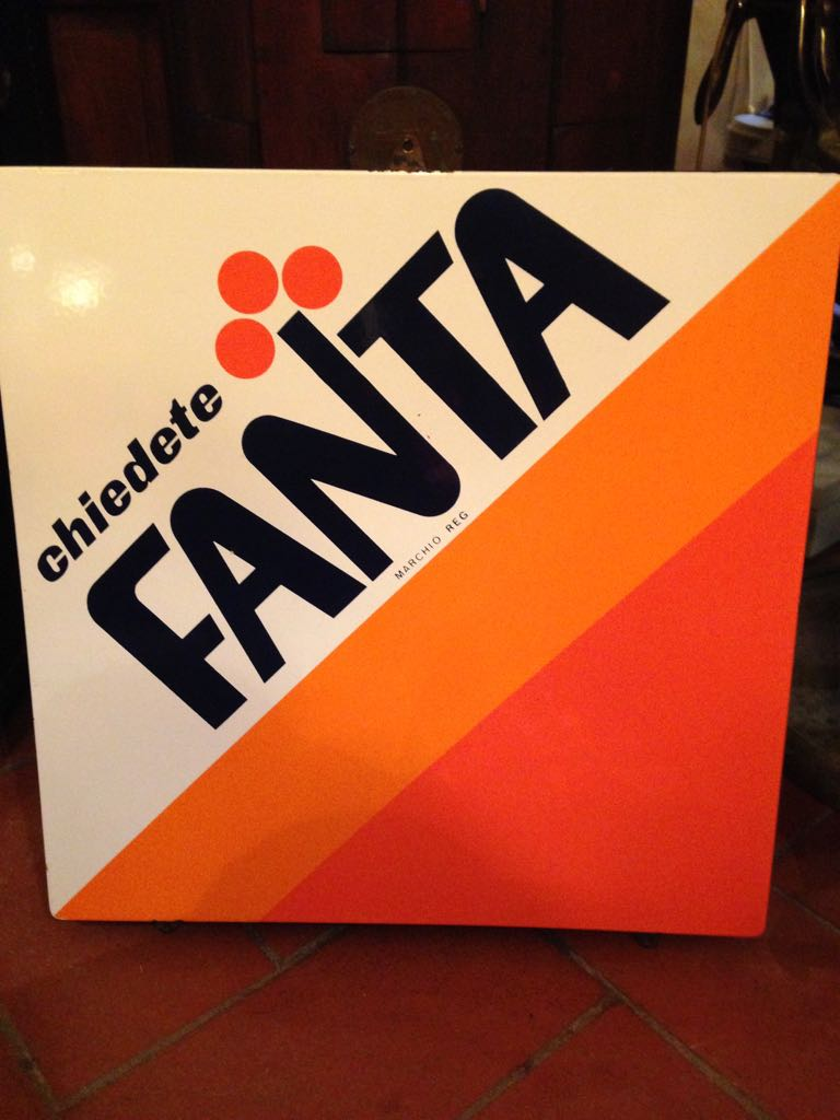 Fanta advertising metal plate