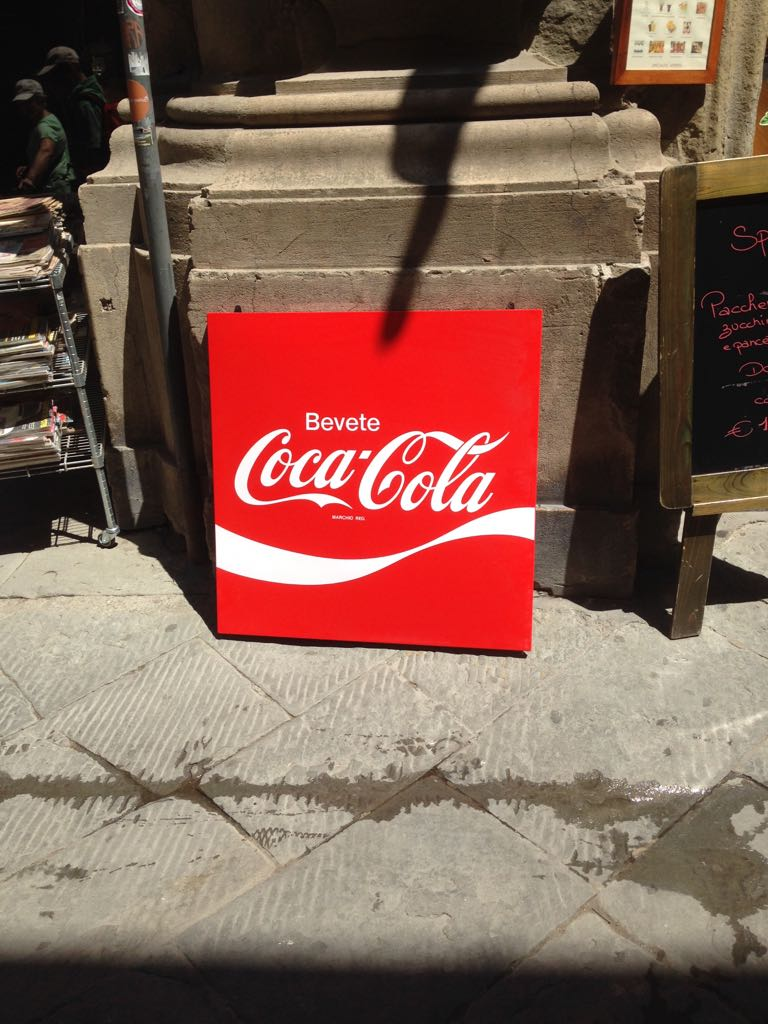 Coca-Cola advertising metal plate