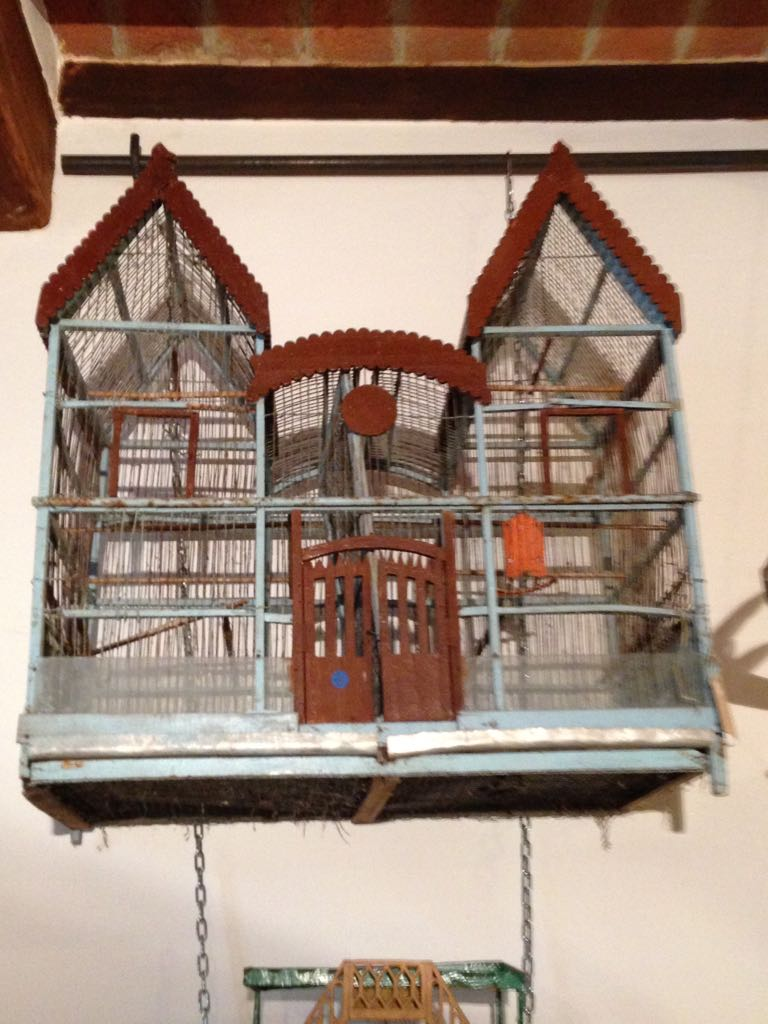 bird-shaped cage for home-made birds