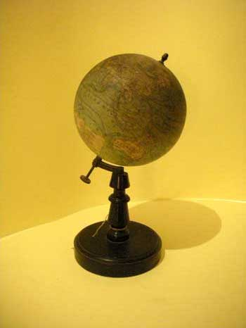 Small globe, with wood base, Forest, Paris