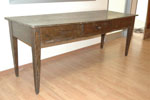 Fir table with drawer, XIX sec