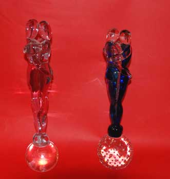 The lovers, Murano glass