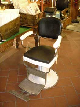 Barber's chair, black and white, Victoria